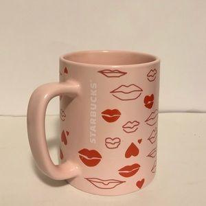 Starbucks pink hearts and kisses 14 ounce mug